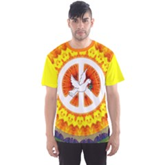 Psychedelic Peace Dove Mandala All Over Print Sport Tee (men) by StuffOrSomething