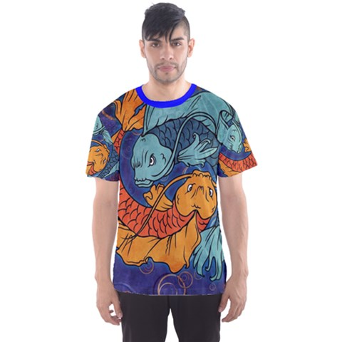 Koi Fish All Over Print Sport T-shirt (men) by UniqueandCustomGifts