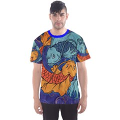 Koi Fish All Over Print Sport T Shirt (men) by UniqueandCustomGifts