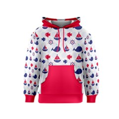 Nautical Sea Pattern Kid s Pullover Hoodie by StuffOrSomething
