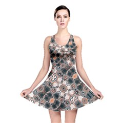 Modern Arabesque Pattern Print Reversible Skater Dress by dflcprintsclothing