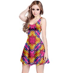Multicolored Abstract Print Sleeveless Dress by dflcprintsclothing