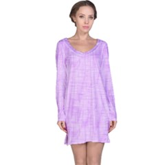 Hidden Pain In Purple Long Sleeve Nightdress by FunWithFibro