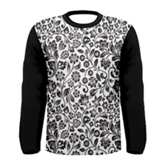 Elegant Glittery Floral Long Sleeve T-shirt (men) by StuffOrSomething