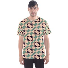 Brown Green Rectangles Pattern Men s Sport Mesh Tee by LalyLauraFLM