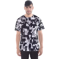 Background Noise In Black & White Men s Sport Mesh Tee
