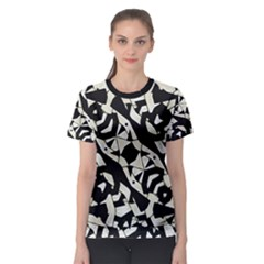 Black And White Print Women s Sport Mesh Tee by dflcprintsclothing