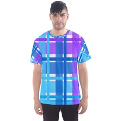 Blue & Purple Gingham Plaid Men s Sport Mesh Tee by StuffOrSomething