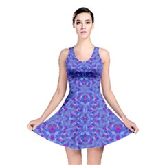 Decorative Ornate Print 2 Reversible Skater Dress by dflcprintsclothing