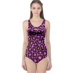 Cheetah Bling Abstract Pattern  One Piece Swimsuit by OCDesignss