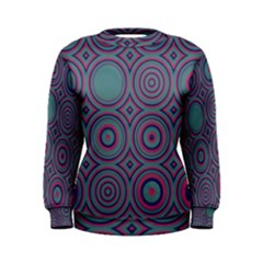 Concentric Circles Pattern Sweatshirt by LalyLauraFLM
