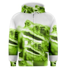 Green Frog Men s Zipper Hoodies by timelessartoncanvas