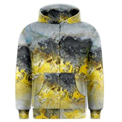Bright Yellow Abstract Men s Zipper Hoodies by timelessartoncanvas