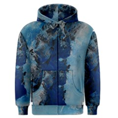 Blue Abstract No 2 Men s Zipper Hoodies by timelessartoncanvas