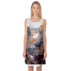 Natural Abstract Landscape Sleeveless Satin Nightdresses by timelessartoncanvas