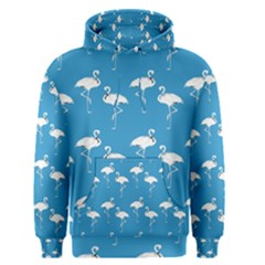 Flamingo White On Teal Pattern Men s Pullover Hoodies by CrypticFragmentsColors