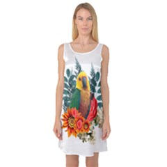 Parrot Sleeveless Satin Nightdresses by infloence