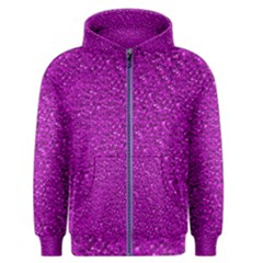 Sparkling Glitter Hot Pink Men s Zipper Hoodies by ImpressiveMoments