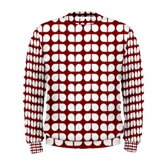 Red And White Leaf Pattern Men s Sweatshirts by creativemom