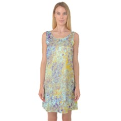 Abstract Earth Tones With Blue  Sleeveless Satin Nightdresses by digitaldivadesigns