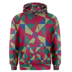Shapes In Squares Pattern Men s Pullover Hoodie by LalyLauraFLM