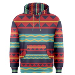 Rhombus And Waves Chains Pattern Men s Pullover Hoodie by LalyLauraFLM