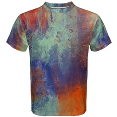 Abstract In Green, Orange, And Blue Men s Cotton Tees