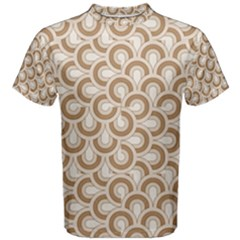 Retro Mirror Pattern Brown Men s Cotton Tees by ImpressiveMoments