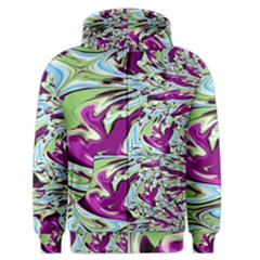 Purple, Green, And Blue Abstract Men s Zipper Hoodies by digitaldivadesigns