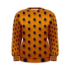 Florescent Orange Black Polka Dot  Women s Sweatshirts by OCDesignss