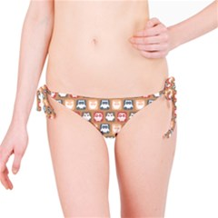 Colorful Whimsical Owl Pattern Bikini Bottoms by creativemom
