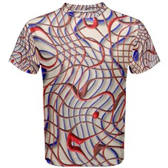 Ribbon Chaos 2 Red Blue Men s Cotton Tees