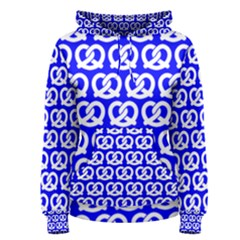 Blue Pretzel Illustrations Pattern Women s Pullover Hoodies by creativemom