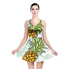 Pineapple Pattern 05 Reversible Skater Dresses by Famous