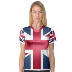 Brit3 Women s V Neck Sport Mesh Tee by ItsBritish