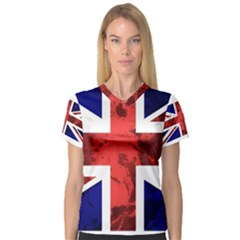 Brit9 Women s V Neck Sport Mesh Tee by ItsBritish