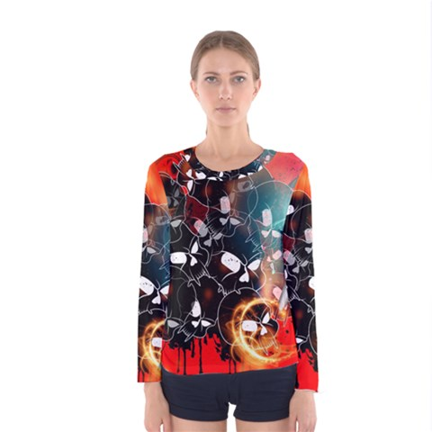 Women s Long Sleeve T Shirt by FantasyWorld7