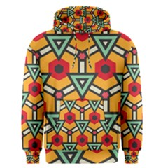 Triangles And Hexagons Pattern Men s Pullover Hoodie by LalyLauraFLM