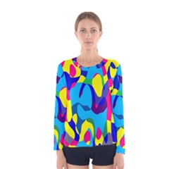 Colorful Chaos Women Long Sleeve T Shirt by LalyLauraFLM