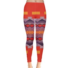 Rhombus Rectangles And Triangles Leggings by LalyLauraFLM