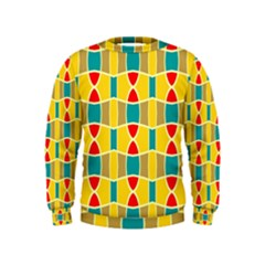 Colorful Chains Pattern  Kid s Sweatshirt by LalyLauraFLM