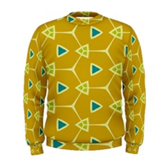 Connected Triangles  Men s Sweatshirt by LalyLauraFLM