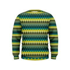 Scallop Pattern Repeat In  new York  Teal, Mustard, Grey And Moss Boys  Sweatshirts by PaperandFrill