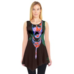 Edgar Allan Poe Pop Art  Sleeveless Tunic (xs) by icarusismartdesigns
