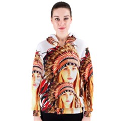 Indian 3 Women s Zipper Hoodie by indianwarrior