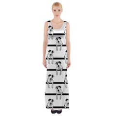 Pit Bull T Bone Graphic  Maxi Thigh Split Dress by ButThePitBull