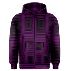 Purple Black Rectangles         Men s Zipper Hoodie