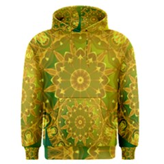 Yellow Green Abstract Wheel Of Fire Men s Pullover Hoodie by DianeClancy