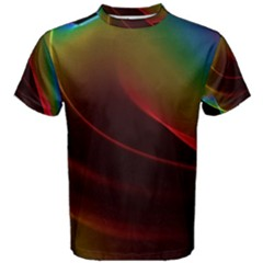 Liquid Rainbow, Abstract Wave Of Cosmic Energy  Men s Cotton Tee by DianeClancy