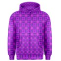 Abstract Dancing Diamonds Purple Violet Men s Zipper Hoodie View1